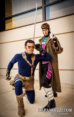 Cyclops and Gambit - X-Men cosplay Epic Cosplay, Male Cosplay, Amazing Cosplay, Gambit Cosplay, Anime Cosplay, Marvel Dc, Marvel Comics, Comic Superheroes, Captain Marvel