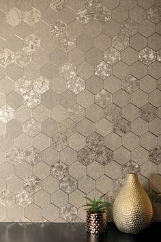 Foil Honeycomb Champagne – Arthouse Honeycomb Wallpaper, Geo Wallpaper, Wallpaper Please, Bathroom Wallpaper, Bathroom Art, Gold Effect Wallpaper, Bathrooms, Shiplap Bathroom, Wallpaper Samples