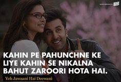 Best quotes from bollywood movies - 20 famous quotes Famous Love Quotes, Love Quotes In Hindi, Motivational Quotes In Hindi, Positive Quotes, Best Quotes, Inspirational Quotes, Famous Quotes From Movies, Song Lyric Quotes, Movie Quotes