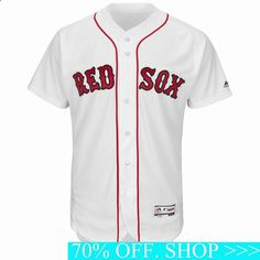Dustin Pedroia Boston Red Sox Home Flex Base Authentic Collection Player Jersey White Jackie Robinson Day, Red Sox World Series, Andrew Benintendi, Dustin Pedroia, David Ortiz, Mookie Betts, Baseball Jerseys, Football Gear, Sports Jerseys