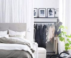 Don't have a closet? Here are alternative closets for small spaces.