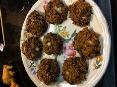 Spicy black bean lentil burgers (uncooked)