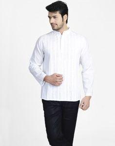 Cotton Khadi Pleated Lucknavi Super Short Kurta