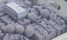 Lilac soap is a natural handmade soap by Atlantis Seifen