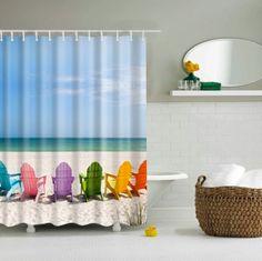 Crazy Octopus Blue Waterproof Bathroom Shower Curtain Rideau de douche 60in