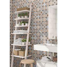 Wickes Central Park Patterned Ceramic Tile Sample 316 x 316mm | Wickes.co.uk