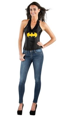 Join forces with other superheroes and stop criminals in their tracks in this Batgirl Corset Costume! This Batgirl costume features a faux leather halter c Batman Costumes, Batgirl Costume, Corset Costumes, Leather Halter, Leather Corset, Marvel Dc, Dc Comics, Batman Logo, Boutique