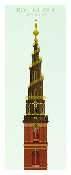 Famous Towers of Copenhagen - Church of our Saviour