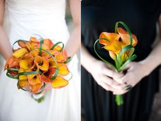 Not a huge fan of the greenery... but I like the different sizes for Bride's and Bridesmaid's bouquets.