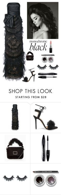 """""""Pure Evening Elegance"""" by kotnourka ❤ liked on Polyvore featuring Marchesa, Charlotte Olympia, Lancôme, Bobbi Brown Cosmetics and MAC Cosmetics"""
