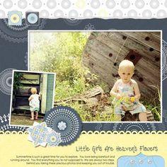 Little Girls are Heaven's Flowers Digital Scrapbook Layout from Creative Memories    http://www.creativememories.com