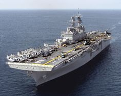 US America Class – an amphibious assault ship, the USS America was the first to be built for around US$3.4 billion. They were built bigger than the Wasp Class so that they could take bigger aircraft onboard.