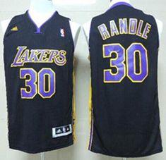 a804a5426 Los Angeles Lakers Jersey 30 Julius Randle Revolution 30 Swingman Black  With Purple Jerseys