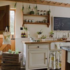 Peg rail kitchen storage