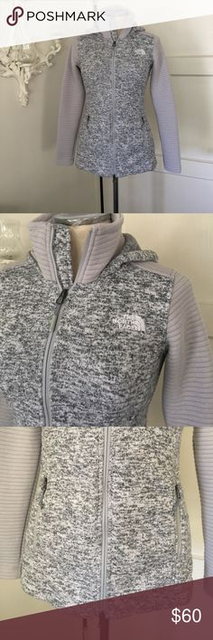 The North Face Hoddie Really cozy zippered hoodie. Has an adjustable waist line  drawstring for a more structured look. The North Face Sweaters