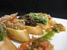 Three Way Brushetta -- Visit us at 9380 Highway 97 North, Vernon BC or call us at 542 - Vernon Bc, Bruschetta, Grilling, Lake Front, Restaurant, Club, Dining, Lakes, Ethnic Recipes