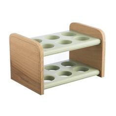Make a feature of your eggs in the kitchen with Typhoon's Americana Wooden Egg Holder Stand