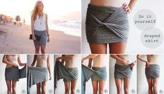 DIY ... Draped skirt