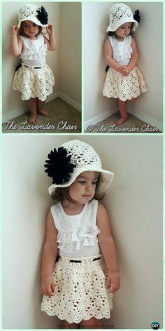 Crochet Baby Dress Crochet Vintage Skirt Free Pattern - Crochet Girls Skirt Fre...