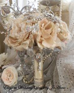 Vintage Style Brooch Bouquet  Stunning by Elegantweddingdecor, $150.00
