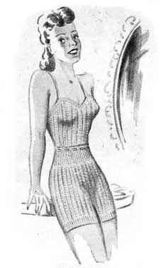 Free Knitting Pattern: Lady's Vest and Knickers from 1946