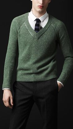 Open-Stitch Detail Cashmere Sweater | Burberry 44590241