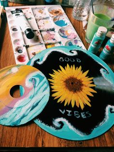 28 Best Ideas For Street Art Sculpture Lps Record Wall Art, Art Tumblr, Cd Art, Aesthetic Painting, Aesthetic Drawings, Aesthetic Collage, Piet Mondrian, Vinyl Art, Vinyl Record Crafts