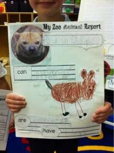 On April we took a fun Field Trip to the Zoo. I used that impending trip to begin our unit on non-fiction writing. Using the Zoo websit. Animal Activities, Writing Activities, Classroom Activities, Teaching Writing, Writing Ideas, Classroom Ideas, Kindergarten Projects, Kindergarten Science, Zoo Phonics