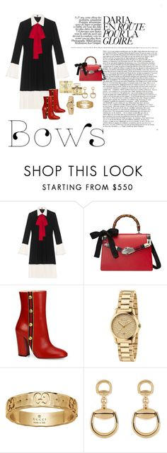 """""""Gucci bows set"""" by tiwik ❤ liked on Polyvore featuring Gucci"""