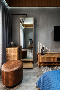 Bedroom Wall Designs, Bedroom Closet Design, Bedroom Furniture Design, Home Room Design, Home Decor Furniture, Living Room Designs, Tv Unit Interior Design, Flat Interior, Indian Bedroom Decor