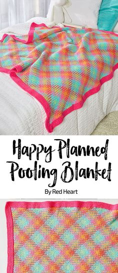 Happy Planned Pooling Blanket free crochet pattern in Super Saver Pooling yarn. … Happy Planned Pooling Blanket free crochet pattern in Super Saver Pooling yarn. Crochet a blanket in a happy plaid by doing. Plaid Crochet, Crochet Yarn, Crochet Crafts, Crochet Stitches, Free Crochet, Crochet For Beginners Blanket, Baby Blanket Crochet, Crochet Blankets, Pooling Crochet