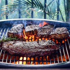 """The boys (& GFs) came over to help me with a few chores, so I said I'd make dinner. """"Any requests?"""" I asked... the answer was immediate """"Steak & salad!"""" 🥩🥗 I grilled them each a local 10oz striploin, for Elaine & me it was a 33oz flank steak! (Ok, truth is, everyone had some flank steak!) Steaks were served with a nice fresh, slightly spicy chimichurri. 👌 Hope you've all had a wonderful weekend! I Grill, Grilling, Steak Salad, Chimichurri, Flank Steak, Steaks, Nook, Spicy, Beef"""
