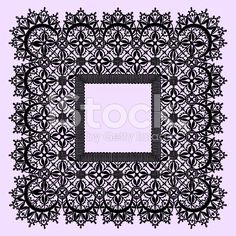 Black Lace Frame. royalty-free stock vector art