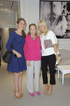 Electra Niarchos, Doris Brynner and Princess Marie Chantal at Dior Haute Couture.