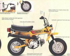 Honda CT70 Minitrail Brochure https://plus.google.com/+JohnPruittMotorCompanyMurrayville/posts