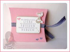 Stampin' Up! Rosa Mädchen Pillow Box mit Fox and Friends und dem Set Flockenzauber