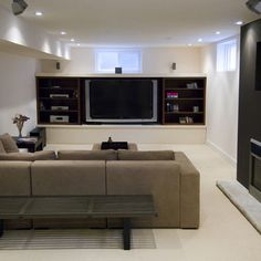 Family Room Small Basement Design, Pictures, Remodel, Decor and Ideas