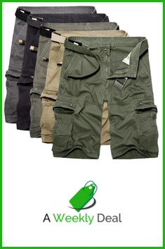 Heavy wearing and comfortable, vintage style cargo shorts with authentic military specifications. Made of high quality soft Cotton material, two regular hand pockets and two rear pockets, and two reinforced cargo pockets. Ideal for hiking or and fishing e Sport Outfits, Cool Outfits, Fashion Outfits, Mens Fashion, Casual Wear For Men, Tactical Clothing, Mens Clothing Styles, Cargo Pants, Costume