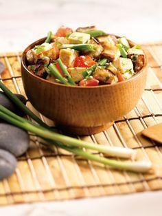 Medifast California Lean and Green Recipe - Bruschetta Eggplant with Tofu