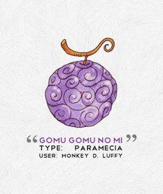 One Piece - Devil Fruit - Gomu Gomu no Mi - Monkey D. Luffy