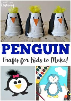 Make winter a fun crafting season with these adorable penguin crafts for kids!