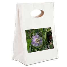 PASSION FLOWER VINE Canvas Lunch Tote
