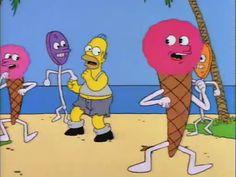 "Homer singing ""Sugar, Honey Honey"""
