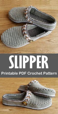 Slipper Crochet Patterns – Great Cozy Gift - A More Crafty Life Crochet Slipper Boots, Crochet Slipper Pattern, Crochet Sandals, Crochet Shoes, Afghan Crochet Patterns, Crochet Slippers, Crochet Clothes, Knit Headband Pattern, Knitted Headband