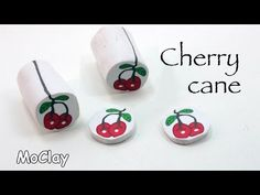 How to make a cherry polymer clay cane - DIY - YouTube