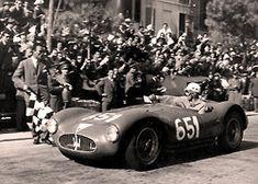 archaictires:  1953 Maserati A6GCS/53 Spider Fantuzzi. Luigi Musso, 1955 Mille Miglia