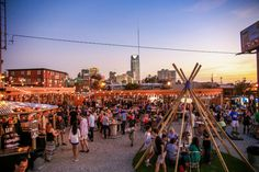 The Bleu Garten is an outdoor eating experience that includes an ever-changing collection of food trucks in the downtown area of OKC.