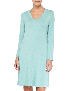 Champagne Soft Jersey Short Nightgown, Arctic by Hanro at Bergdorf Goodman.