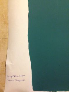 Craig & Rose French turquoise. Lounge walls