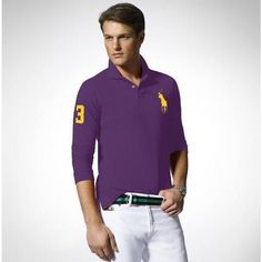 Ralph Lauren Purple Yellow Big Pony Polo Men http://www.ralph-